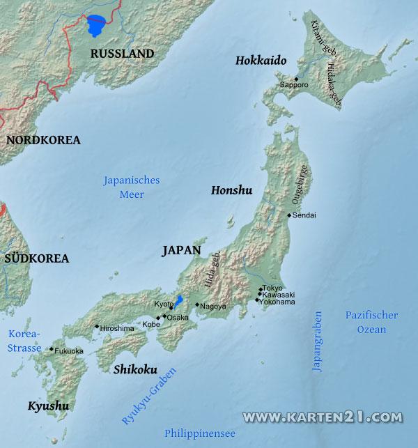 Japan Karte Physisch.Weltkarte Tokio Ein Alla Digimerge Net